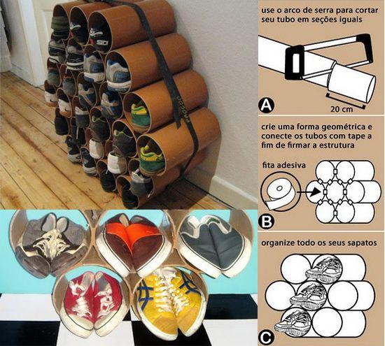 riciclo creativo per scarpiere fai da te   TIRIORDINOTIRIORDINO