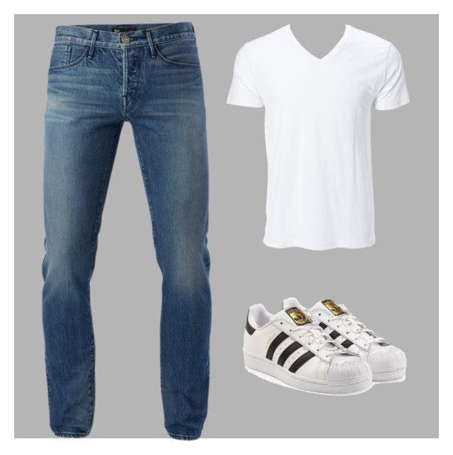 natural by luziagalvang on Polyvore featuring 3x1, adidas Originals, men's fashion and menswear