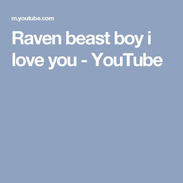 Raven beast boy i love you - YouTube