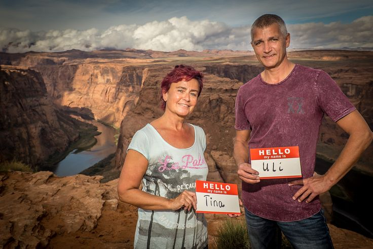 TINA & ULI visiting the Grand Canyon from Germany say Hello. #Hello #Art #PhotoProject #Unite #Portrait #USA #America #Germany