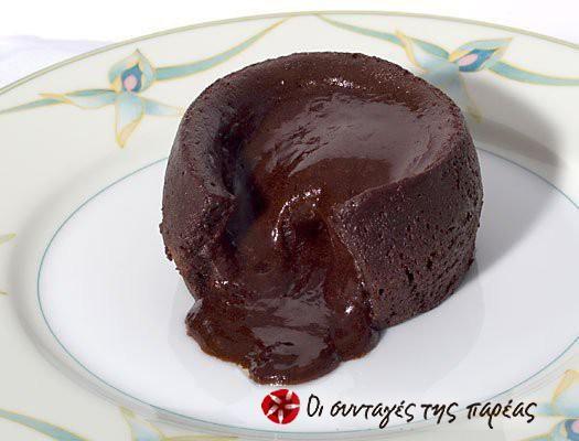 Σουφλέ Σοκολάτας (με υγρή, απολαυστική γέμιση) #sintagespareas