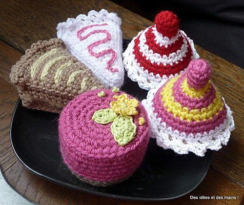 Virkattu leikkiruoka kakku Muffini