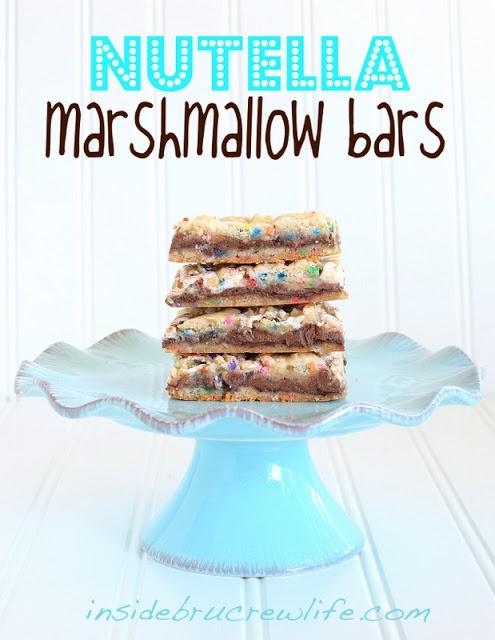 Nutella Marshmallow Bars - Inside BruCrew Life
