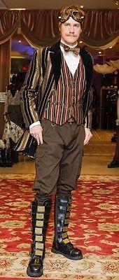 Santuário Gatsby Aristocrata Colete Jaqueta Veludo Vitoriano Gótico Cowboy Steampunk