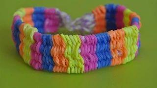 Широкий браслет из резинок. Видеоурок. Happy Rainbow Loom https://youtu.be/8gWcqzCY-lo В этом видеоуроке речь пойдёт об одном из основных и простых браслетов -Широком браслете. Его ещё называют Уиллис)). Основная сложность для меня составила та часть когда надо перемещать по пять резиночек в конец браслетика. Но если у Вас есть рядом подружка или друг, то Широкий браслет Вам покажется очень простым, но долгим)). Желаю успехов и хорошего настроения.