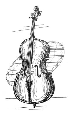 daily drawing week 14 strings 3: cello