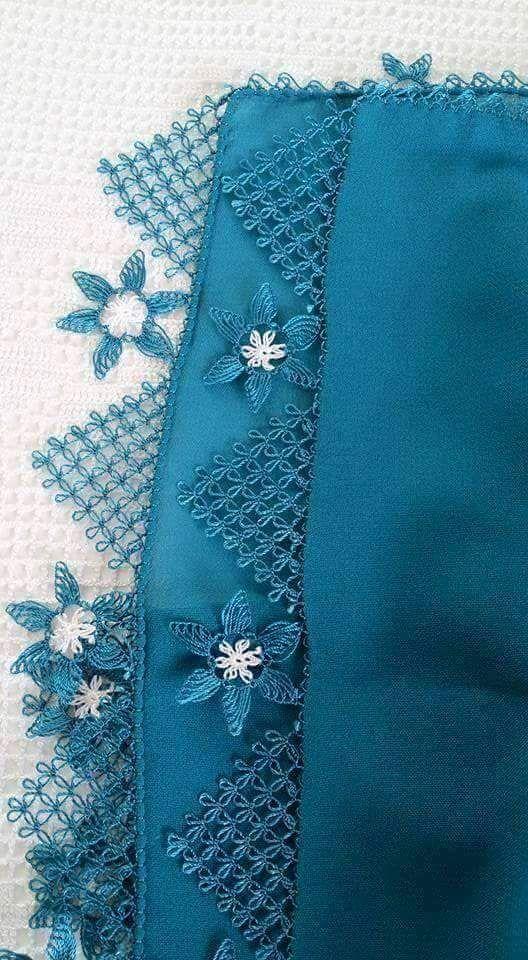maviş namaz örtüsü iğne oyası modeli