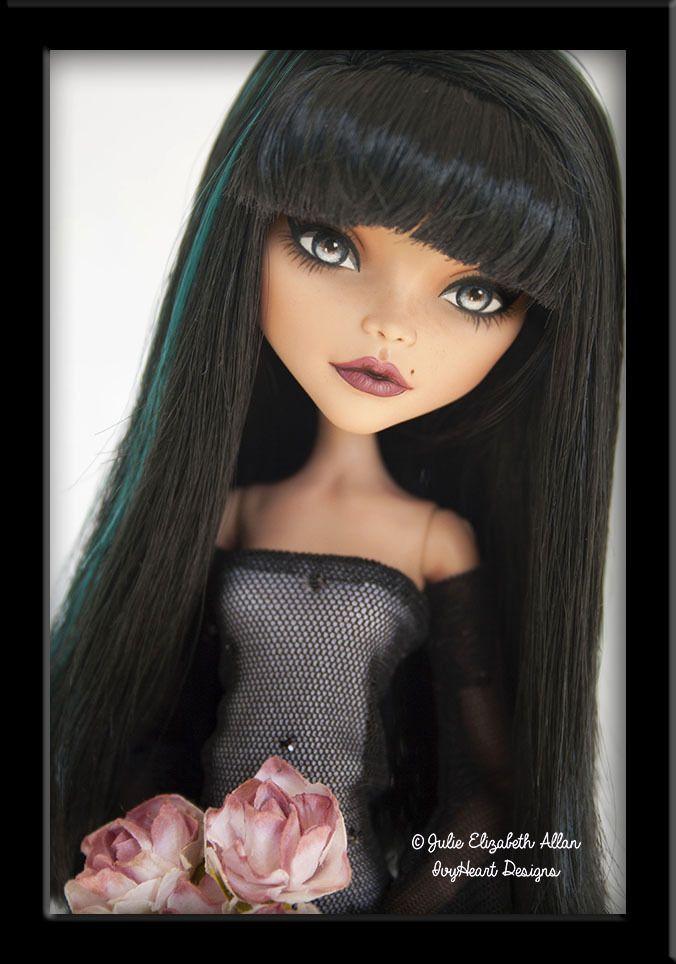 ~Shadow~ OOAK Custom Monster High Cleo De Nile Repaint - IvyHeart Designs