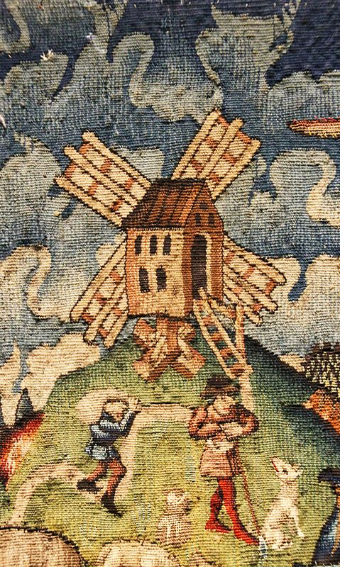 A #windmill, once key element in the production of #flour, hides on a tapestry in the #milancathedral Museum #duomodimilano #food