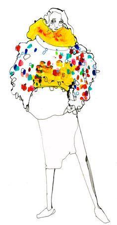 Timi Hayek fashion illustration