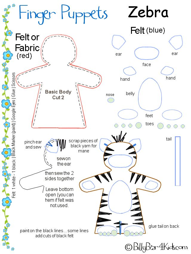 paper finger puppets templates - modify zebra finger puppet crafty pinterest finger