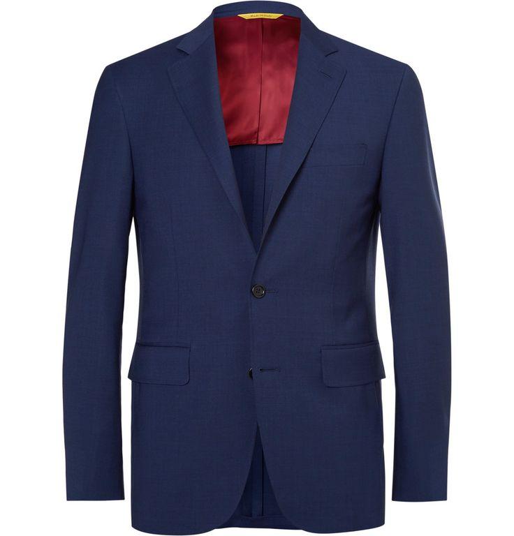 Canali - Navy Kei Slim-Fit Wool Suit Jacket