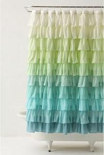 gorgeous shower curtain!: Cute Shower Curtains, Decor, Idea, Kids Bathroom, Colors, Ruffles Shower Curtains, Diy Tutorials, Curtains Tutorials, Girls Bathroom