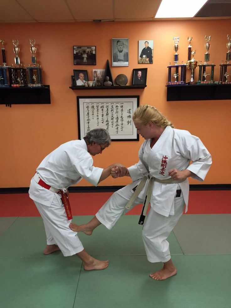 This month I am demonstrating self-defence against an across-line wrist grab, step 2.