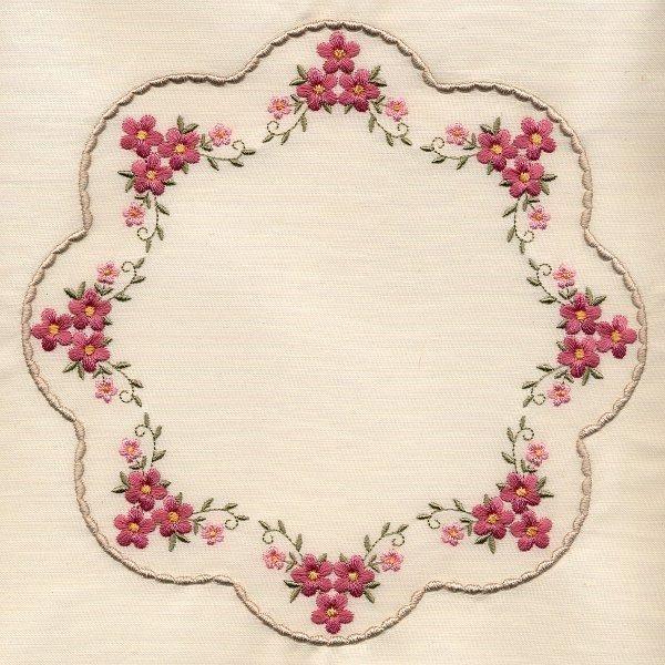 8x8 inch Floral Quilt 1 - Elsas Designs   OregonPatchWorks