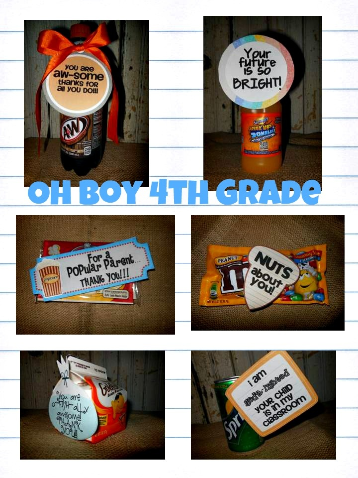 Oh' Boy 4th Grade: Perfect for the whole school year gifts! Done and So Done!!!!  LOVE it!