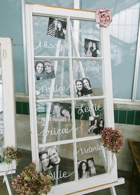 Cute way to honor those in the wedding party
