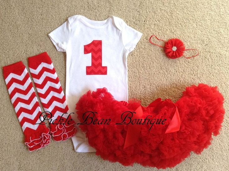 Red Chevron Birthday Outfit