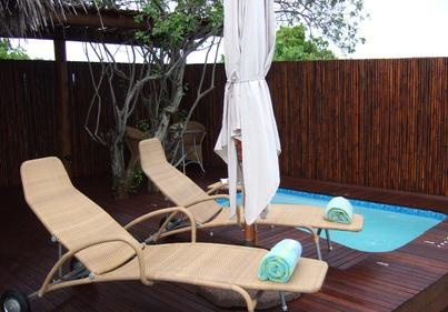 Beach Chalet Plunge Pool and Deck. Visit our website at www.raniresorts.com