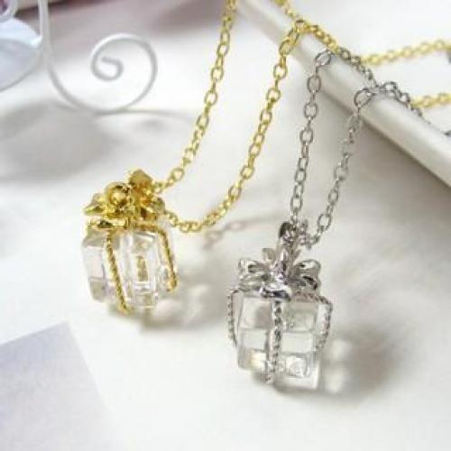 Transparent Fake Crystal Gift Necklace
