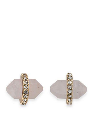 Lauren Ralph Lauren Gold-Tone Match Point Pink Bullet Stud Earrings