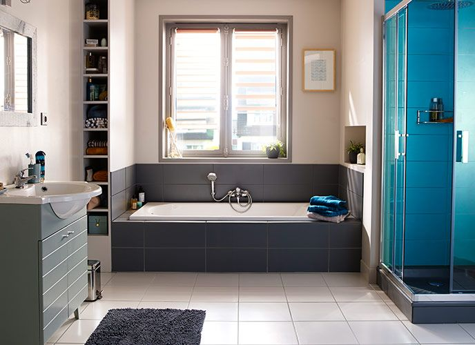 Castorama gagner de la place dans la salle de bains - Salle de bain gain de place ...