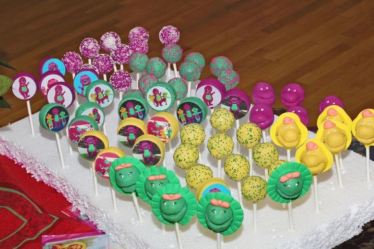 barney cake pops - photo #13
