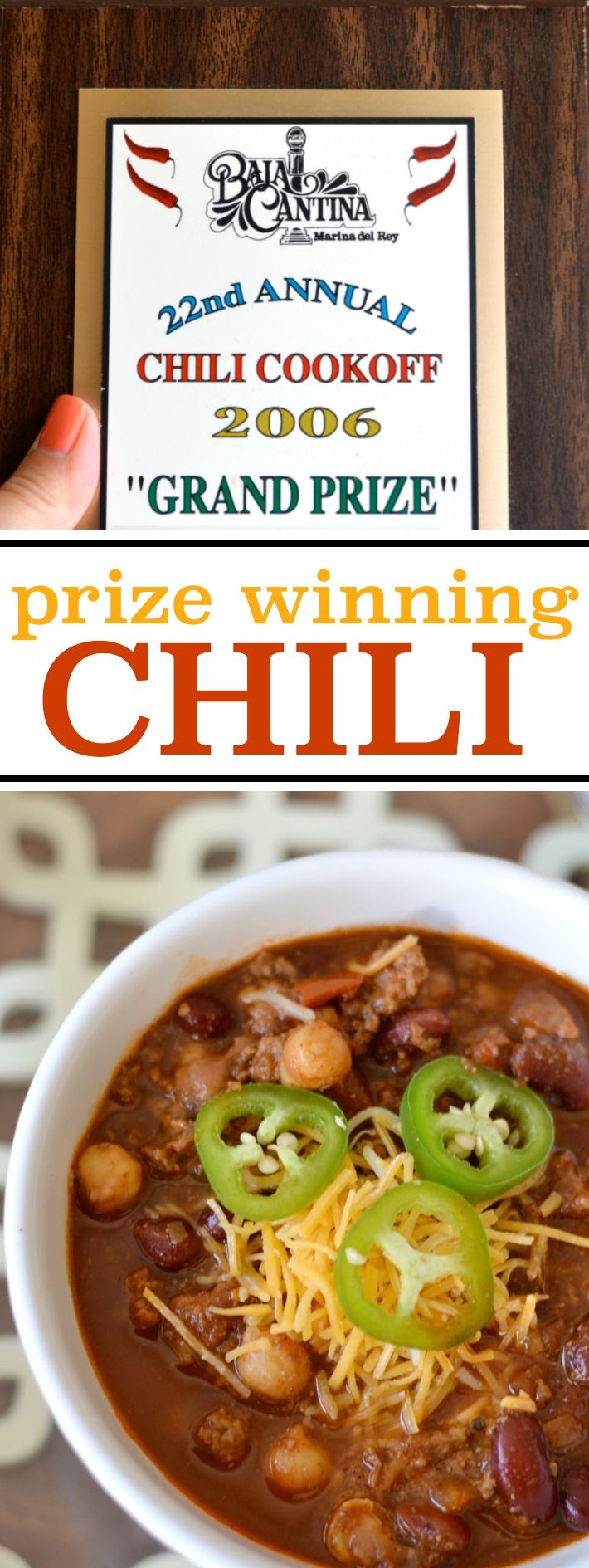 I've been making this chili recipe to rave reviews for 15 years, and I even won a local chili cook-off! I'm finally spilling the beans about how I make my famous chili.