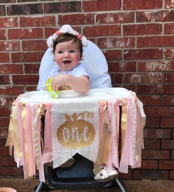 Pumpkin Smash Cake: Little Pumpkin 1st Birthday, 1st Birthday Highchair Banner