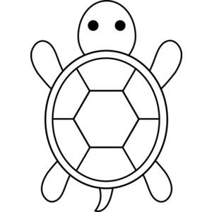 Turtles clipart black and white clipart