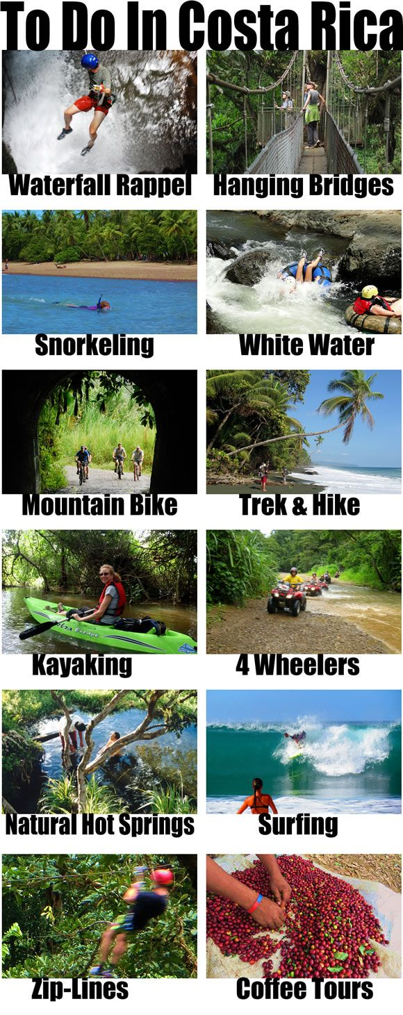 All of the best activities and adventures and the best places to do them