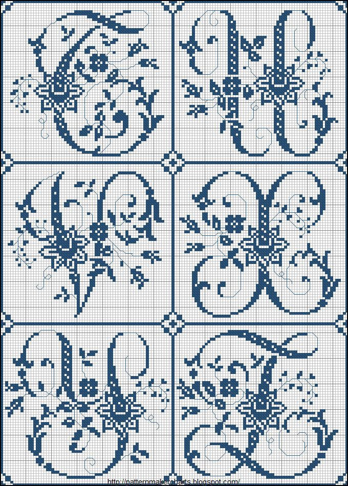 T-Z Free Cross Stitch Charts + Free Historic Old Pattern Books: Sajou No 324 (Paris)