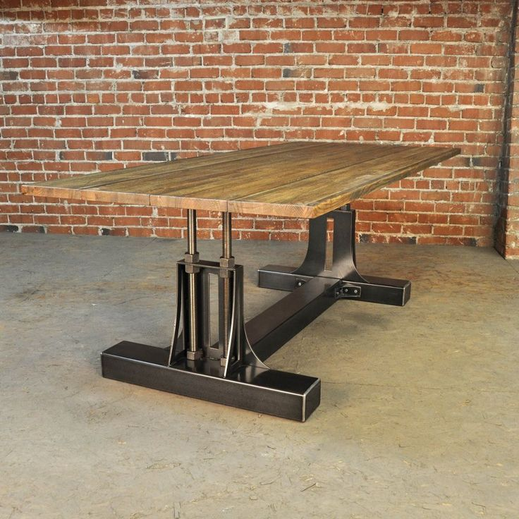 25 Best Ideas About Industrial Style Kitchen On Pinterest: Best 25+ Industrial Dining Tables Ideas On Pinterest