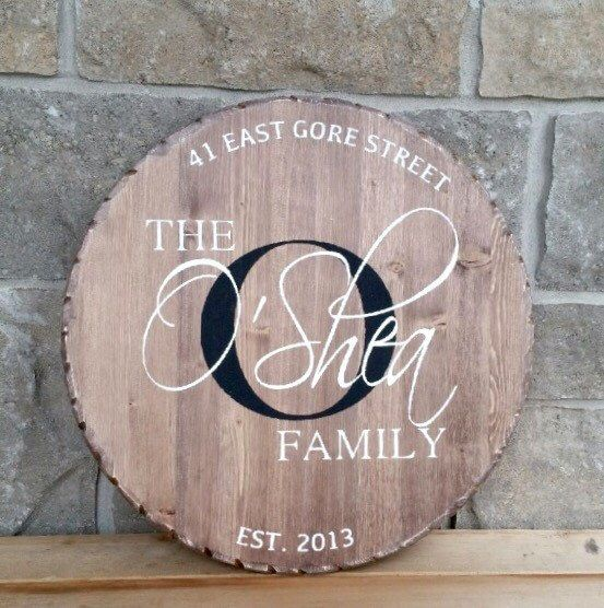 round wood sign monogram sign family sign by ironwoodnorthdesign on etsy https