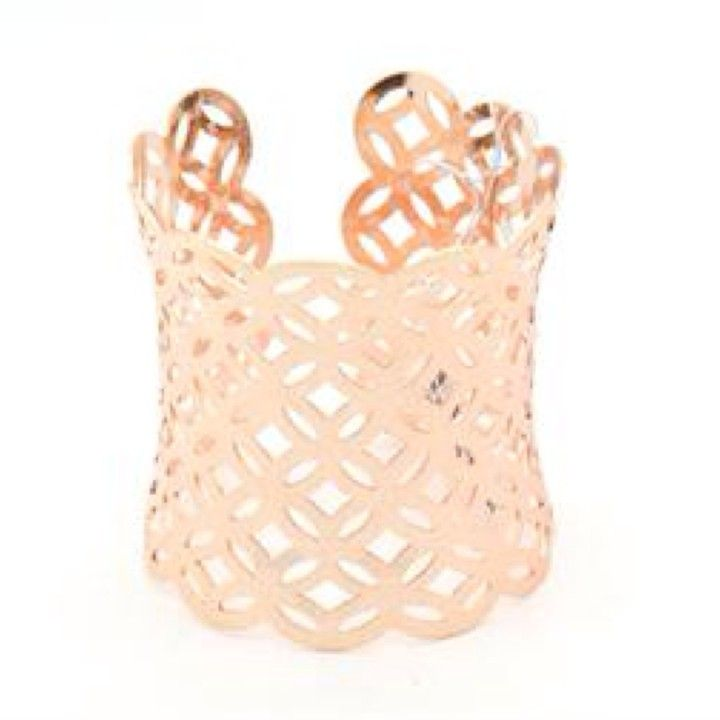 B3303RG V. Lu Rose Gold Long Cuff Bracelet from Turn Her Style, LLC for $27 on Square Market