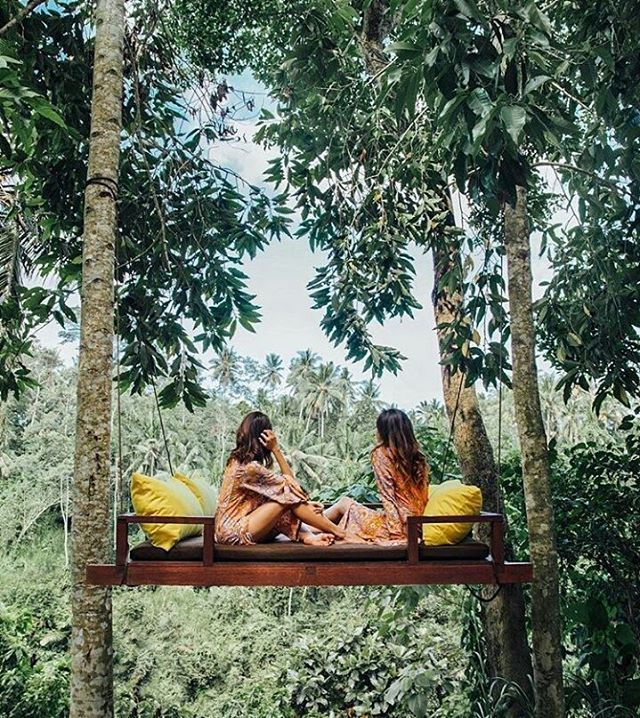 WEBSTA @ kamandalu - A magical swing suspended from the trees in the middle of forest.............#kamandalu #ubud #bali #kamandaluubud #pool #hotel #resort #villa #honeymoon #couple #travel #trip #instatravel #relax #bestresort #pool #ubudswing #swingintheforest #forest #relax #バリ #ウブド #forestswing #Бали #발리 #repost by @taramilktea