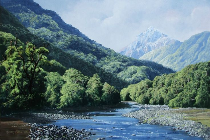 Image result for new zealand landscape paintings