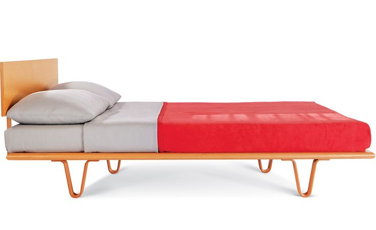 Case Study Bentwood V-leg Bed by Modernica