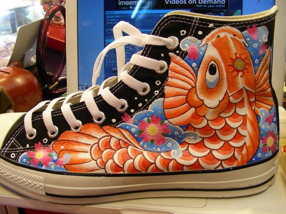 61 best custom shoes images on pinterest custom made for Fish tennis shoes