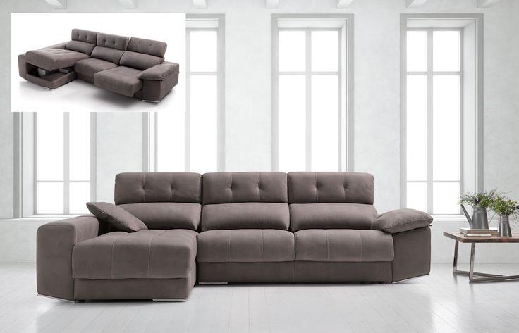 Sofá chaise longue modelo Mónica: Salones de estilo moderno de Merkamueble