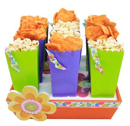 para fiesta infantiles bolsas de palomitas de colores verde y morado ideas para decorar tu barra de dulces