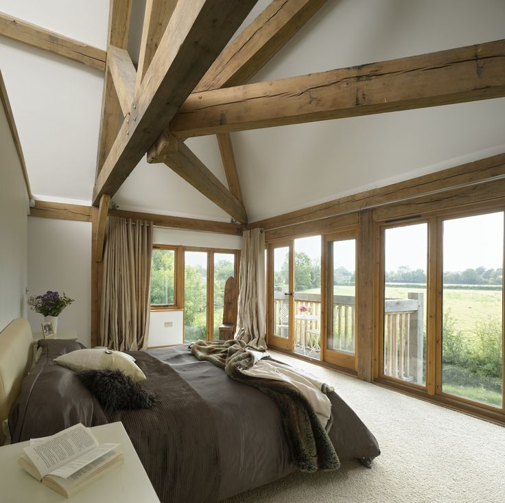 10 Great Ideas To Jazz Up A Small Square Bedroom: Border Oak - Barn Bedroom With Impressive Framing.