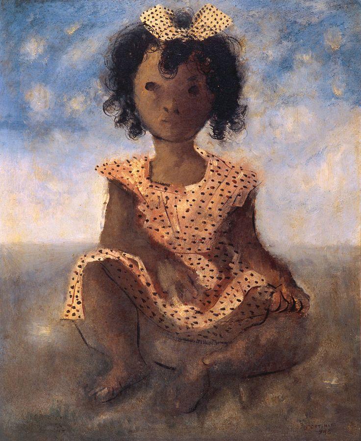 """Menina Sentada"" - Cândido Portinari (1943)"