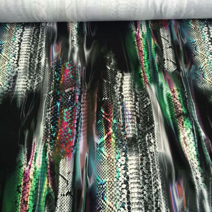 Купить CAVALLI пунто милано , Италия - разноцветный, итальянские ткани, ткани для шитья, ткани Италии