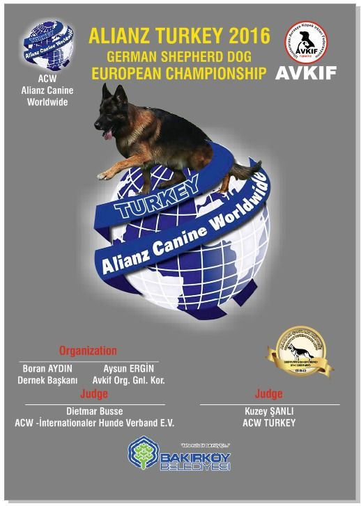 ALIANZ TURKEY 2016 – GERMAN SHEPHERD DOG EUROPEAN CHAMPIONSHIP | AVRASYA KÖPEK IRKLARI FEDERASYONU - ALIANZ TURKEY