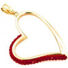 Zlatý přívěsek Red Heart Big IZ6851