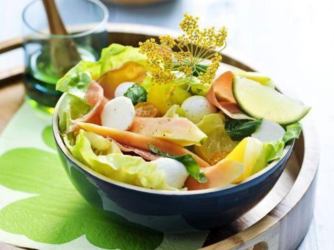 Een heerlijk gerechtje met exotisch fruit. Een zalige snel-klaar-lunch!