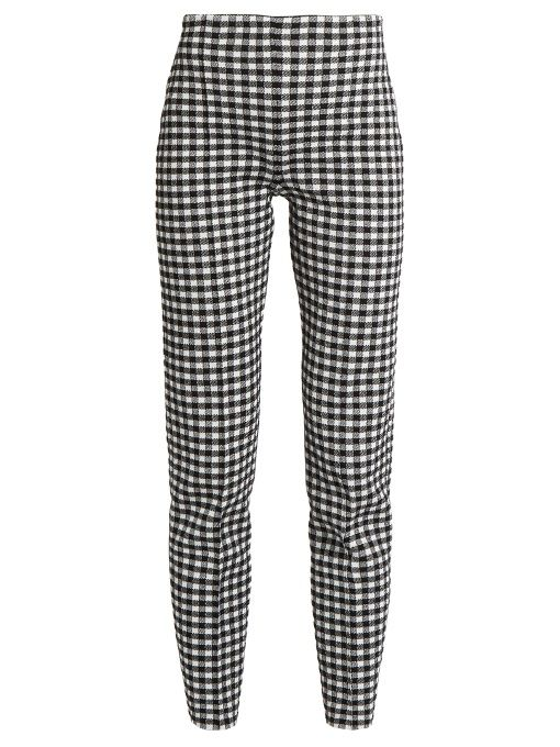 SONIA RYKIEL Checked-knit high-waisted trousers. #soniarykiel #cloth #trousers