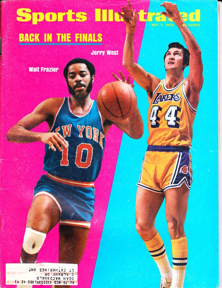 1973 Sports Illust Walt Frazier N.Y. Knicks, Jerry West L