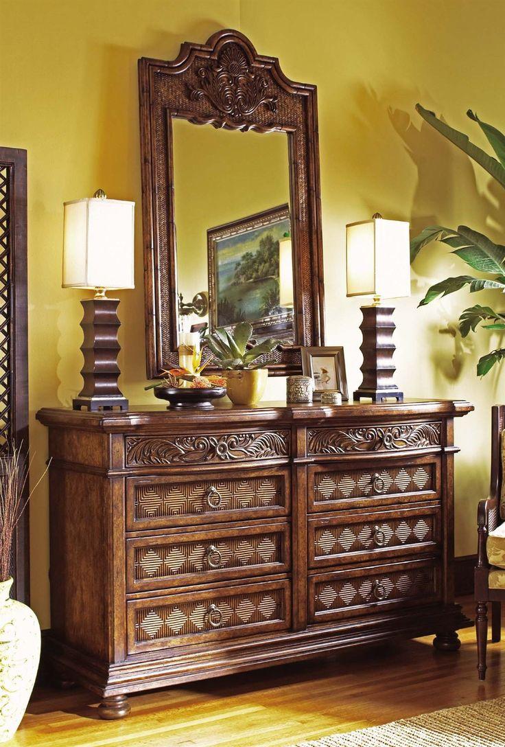 tommy bahama bedroom chest cheap tommy bahama jimbaran bay dresser w mirror interiors